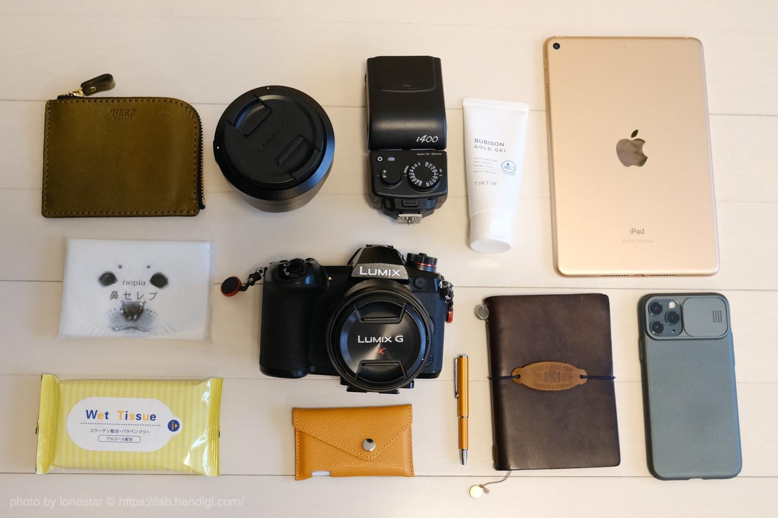 シューティングマルチカメラバッグ 収納例