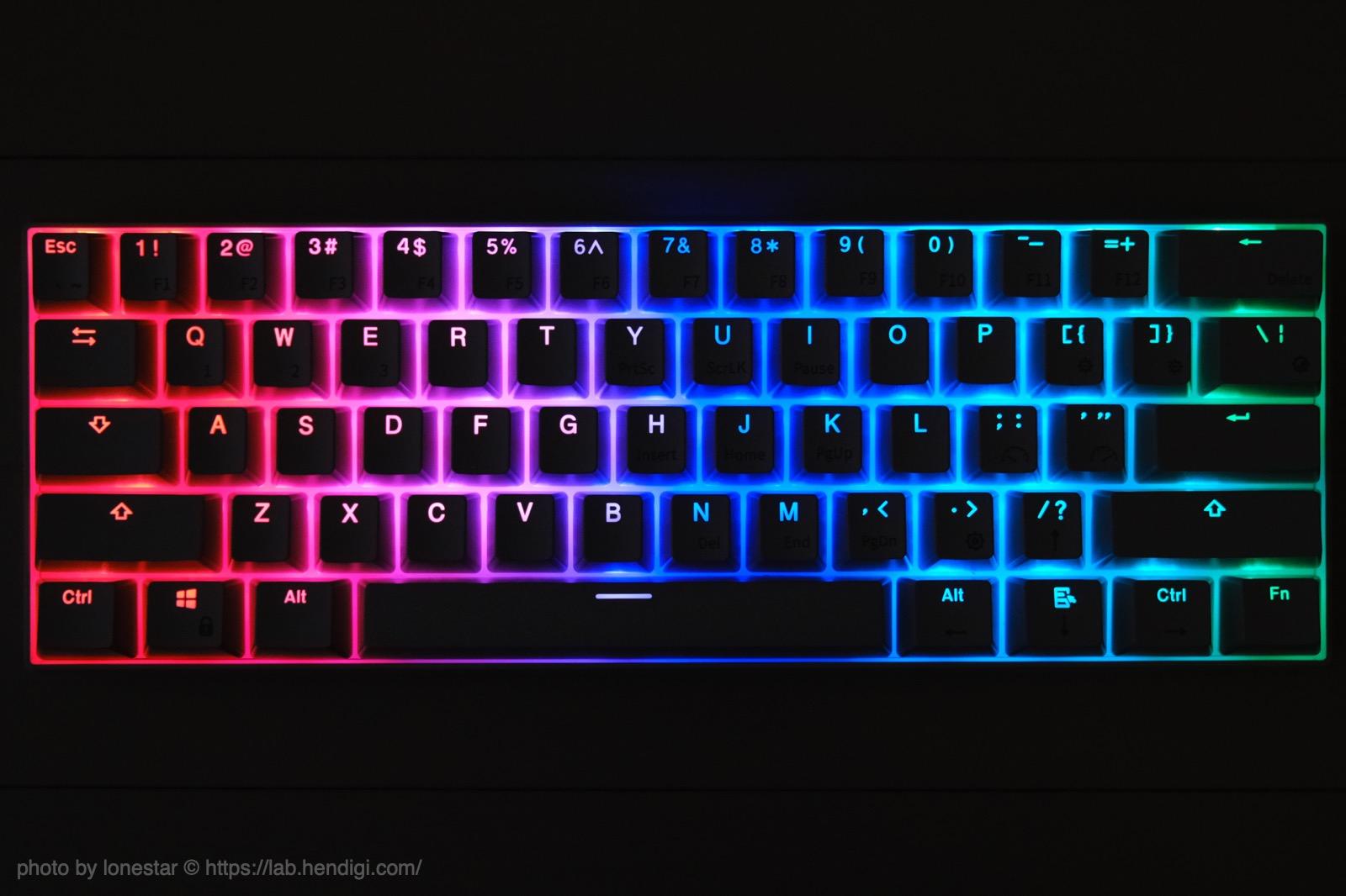 RK61 ゲーミングキーボード バックライト