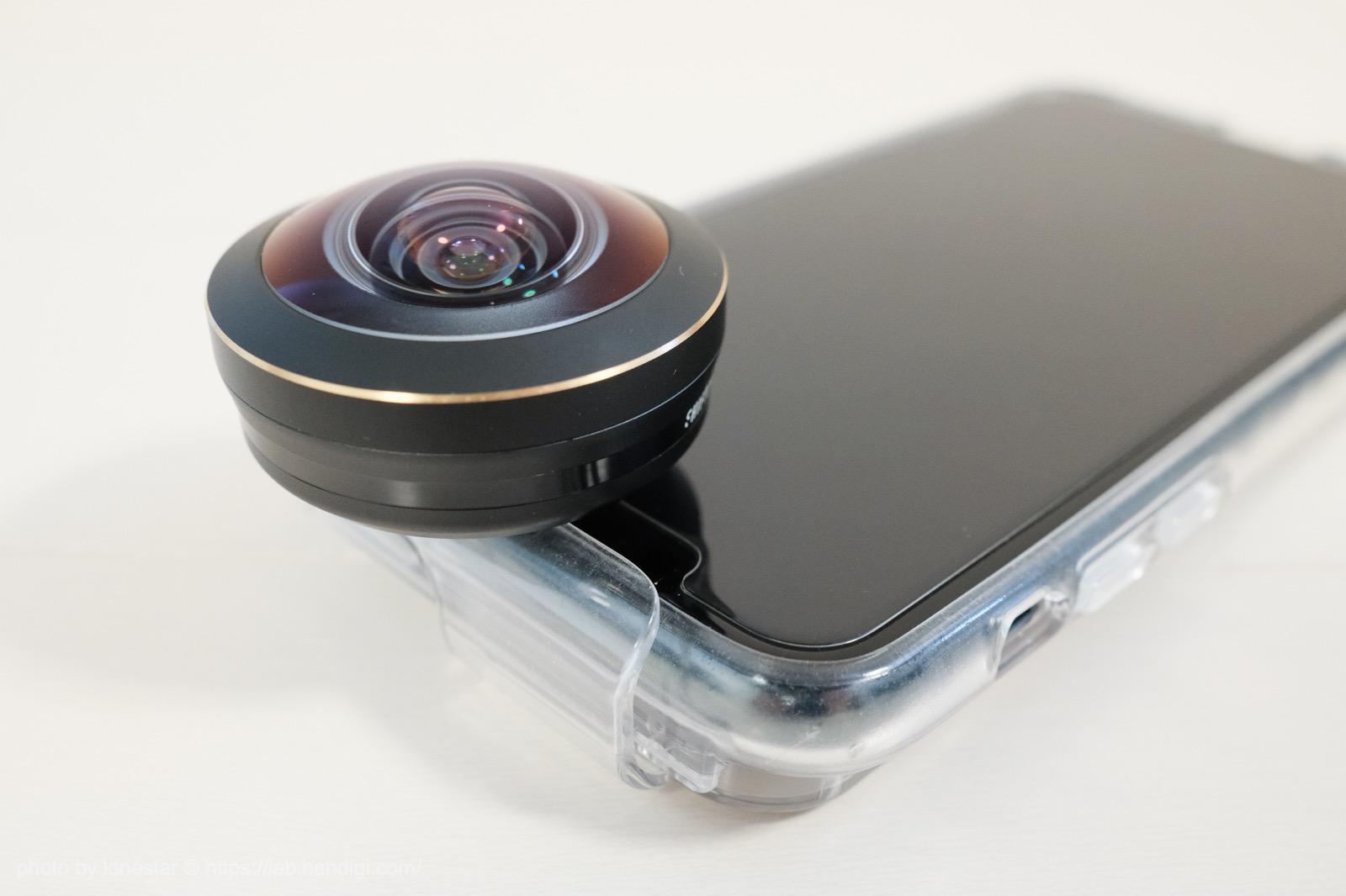 iPhone インカメラ 魚眼レンズ