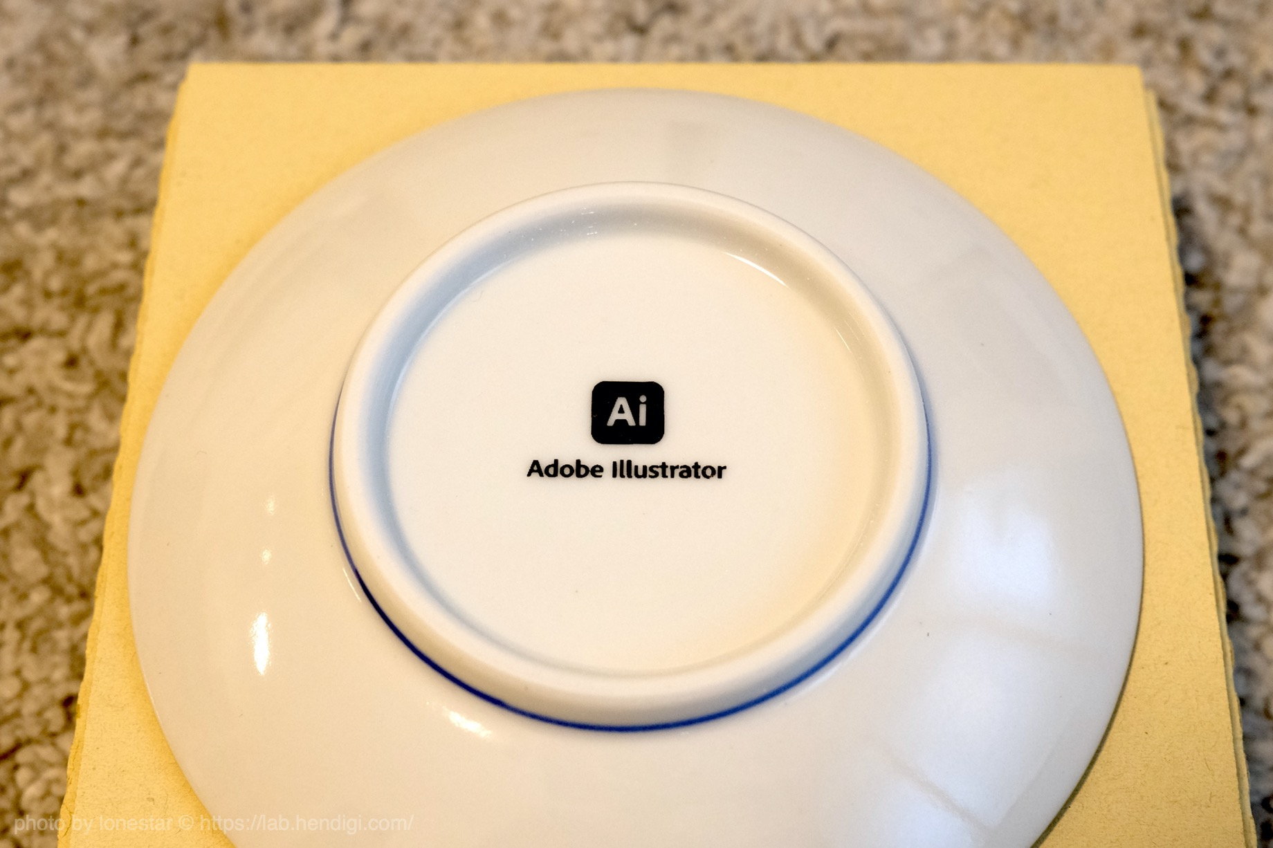 九谷焼 丸皿 イラストレーター