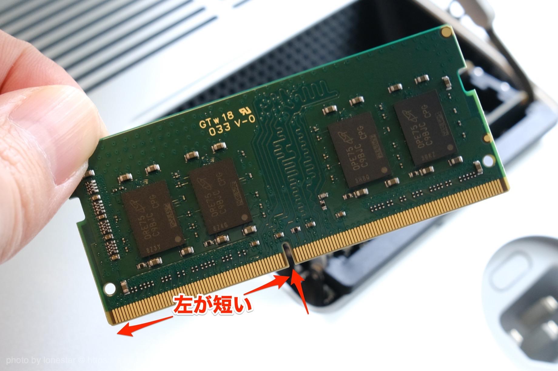 iMac メモリ 向き