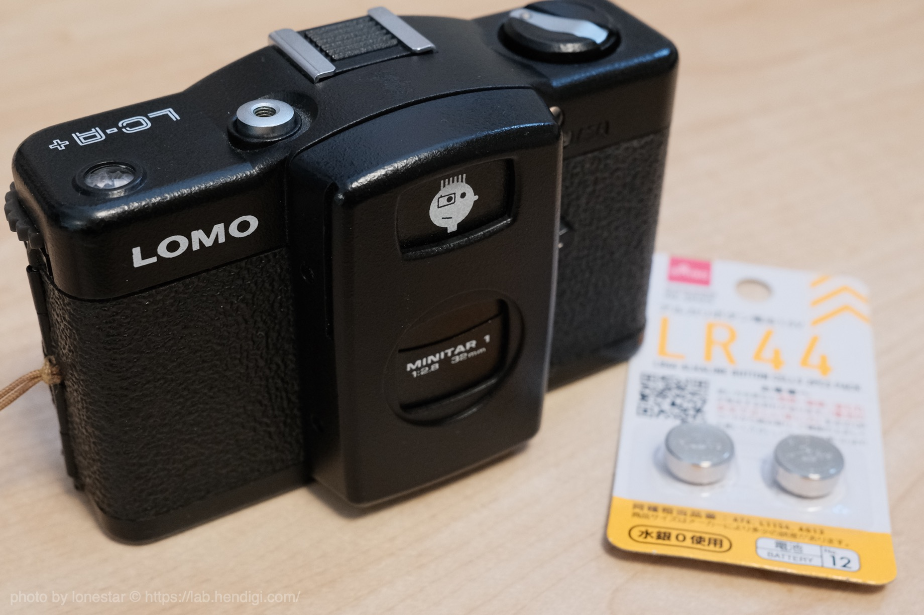 LOMO LC-A+ ボタン電池