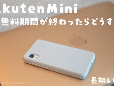 Rakuten Mini 長期レビュー