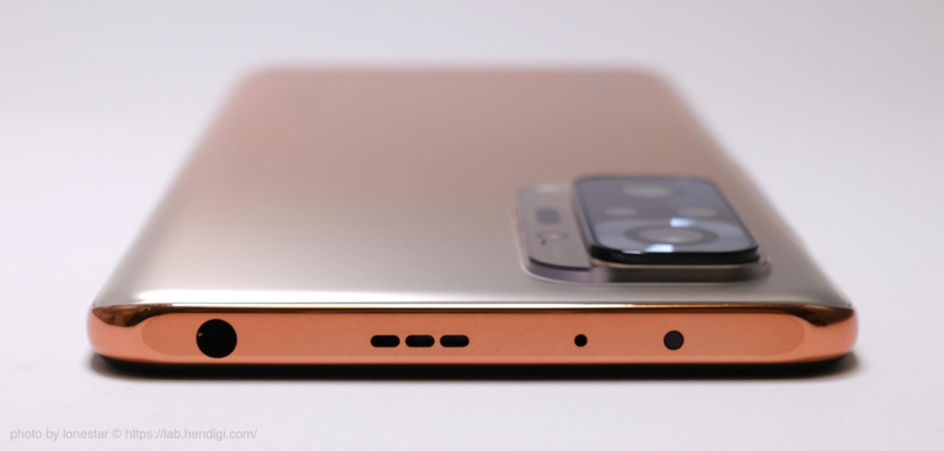 Redmi Note 10 Pro 本体上部