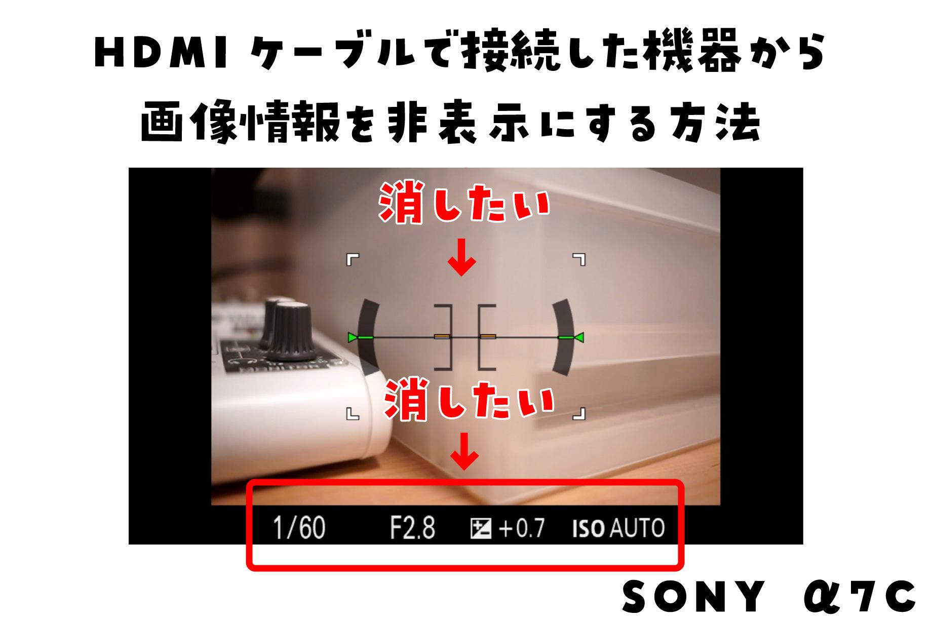 ミラーレス HDMI 表示 消す
