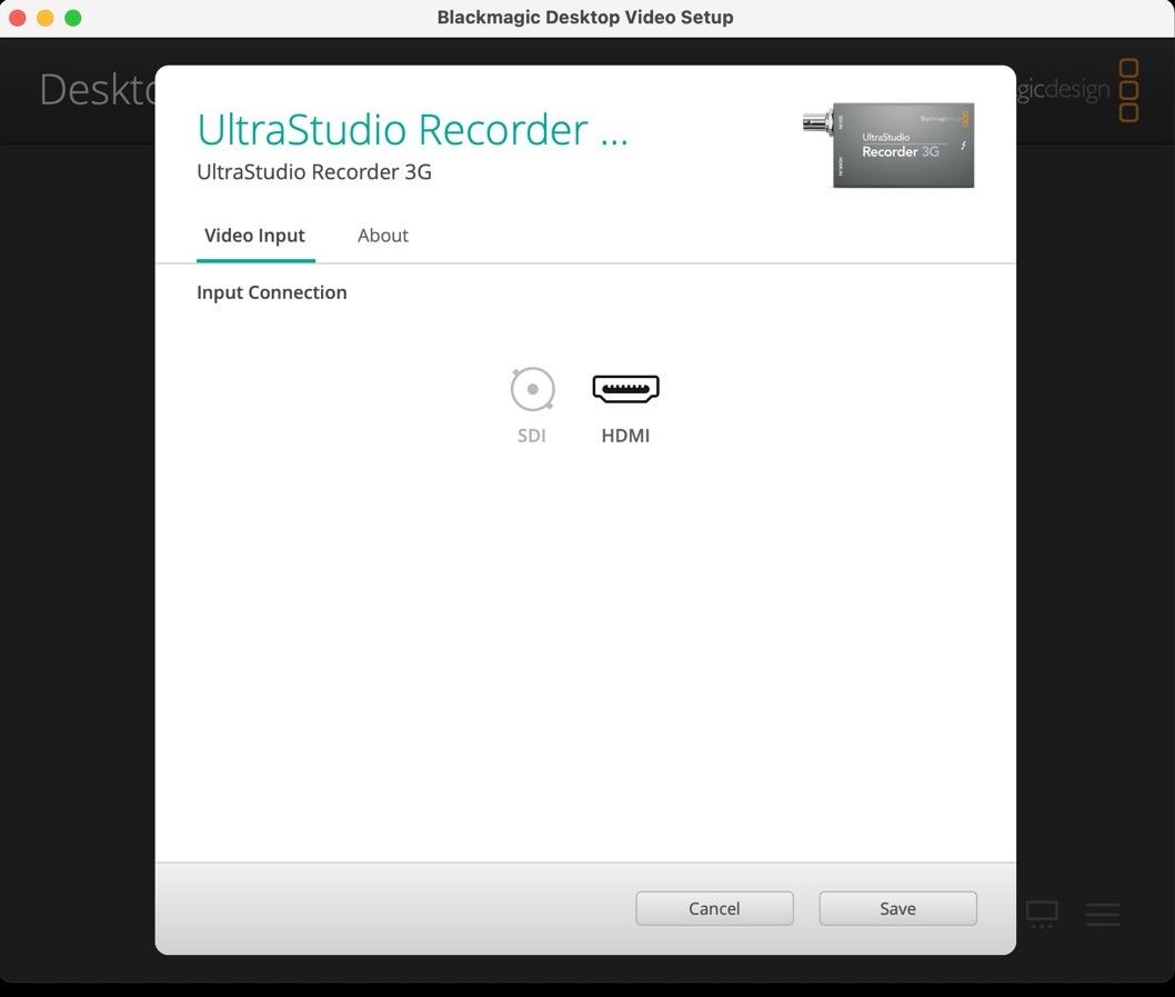 UltraStudio Recorder 3G 使い方 Mac