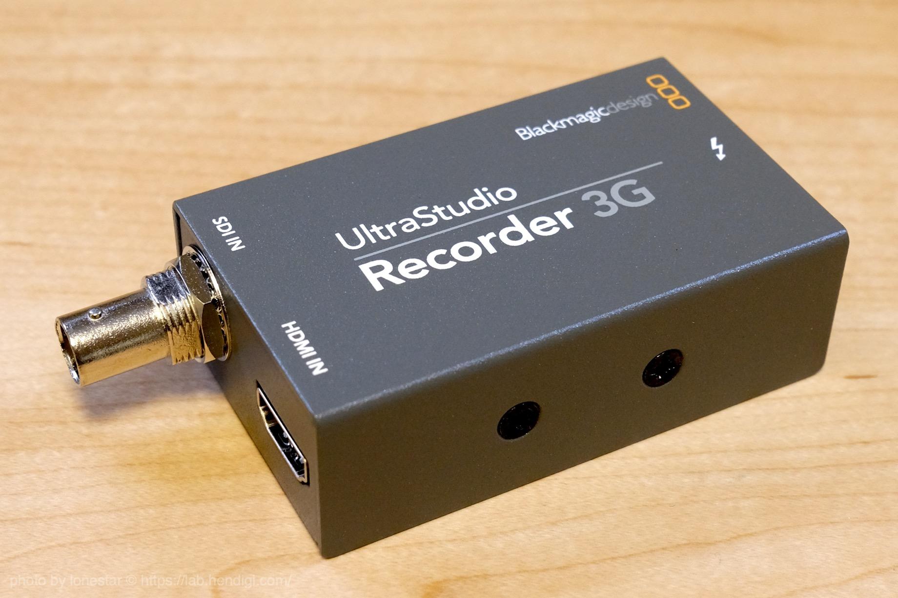 UltraStudio Recorder 3G レビュー
